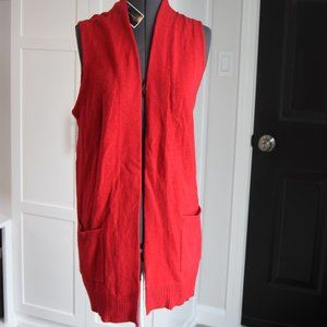 NWT Karen Scott Red Sweater Vest Size Large